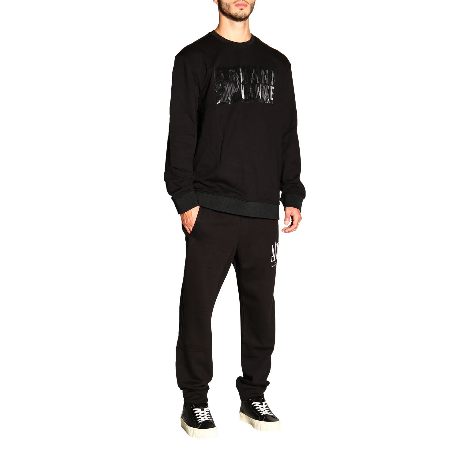 Sweatshirt Armani Exchange: Pull homme Armani Exchange noir 2
