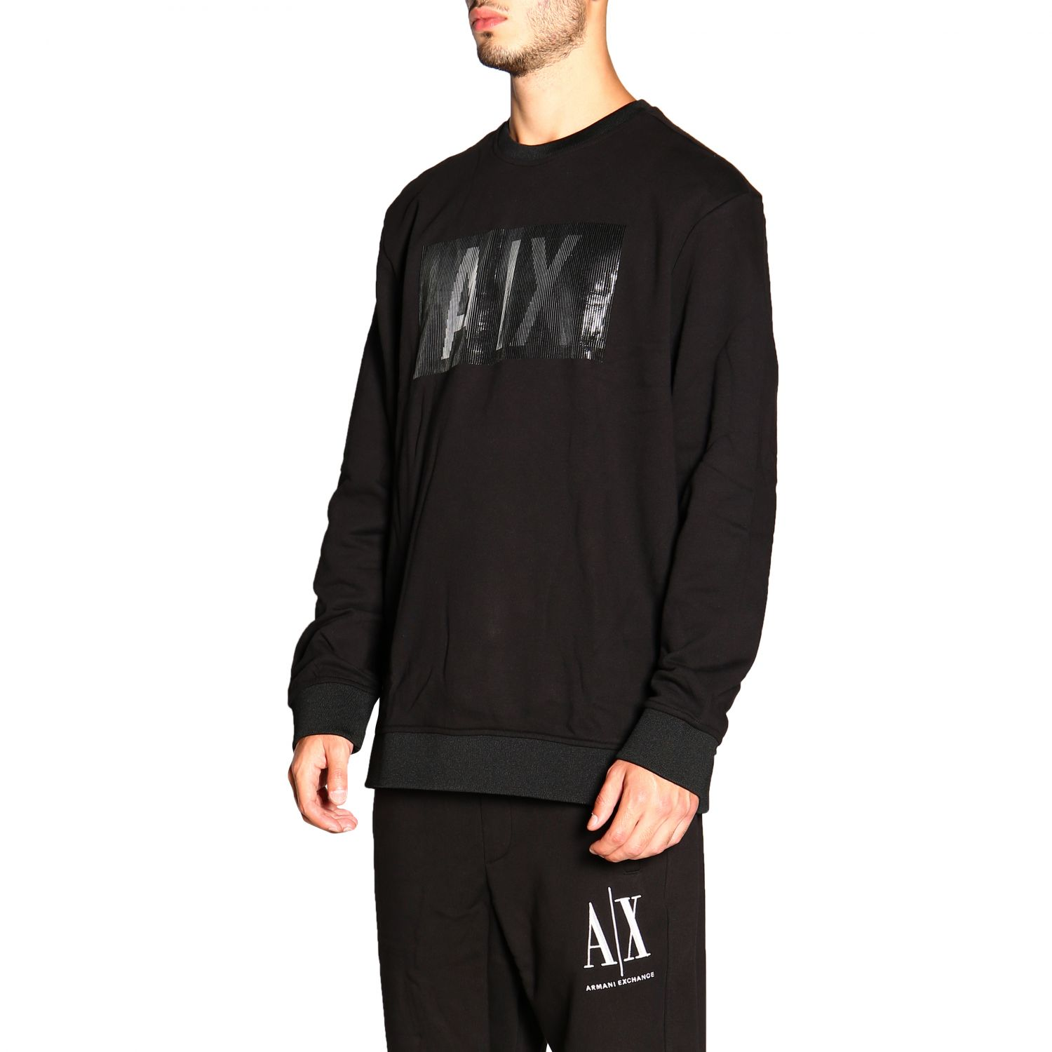 Sweatshirt Armani Exchange: Pull homme Armani Exchange noir 4