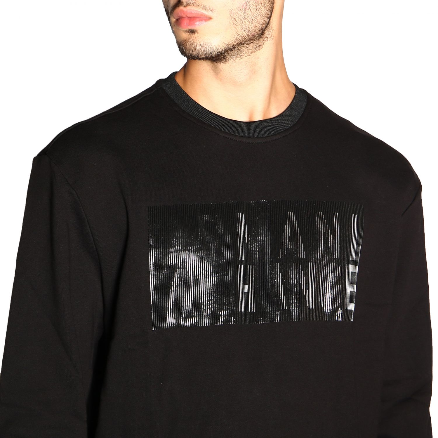 Sweatshirt Armani Exchange: Pull homme Armani Exchange noir 5