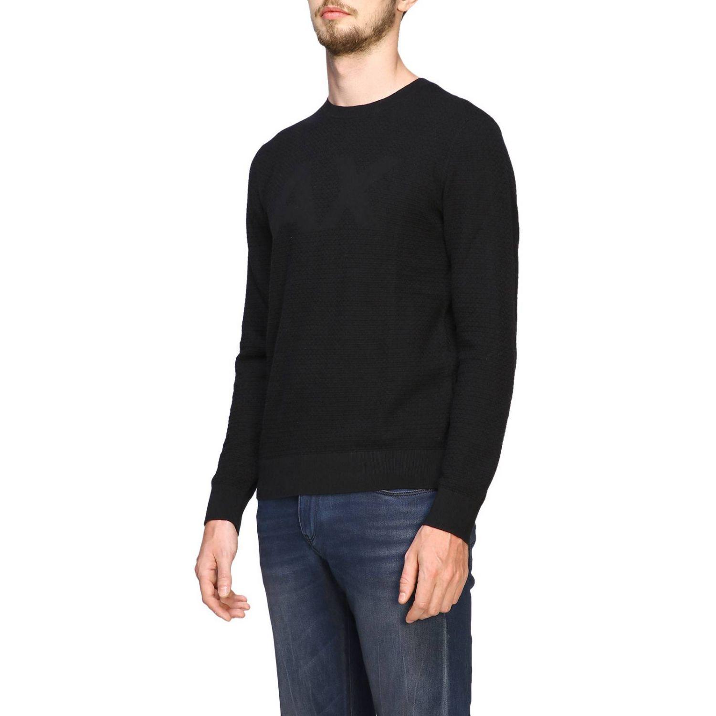 Sweater Armani Exchange: Sweater men Armani Exchange black 4