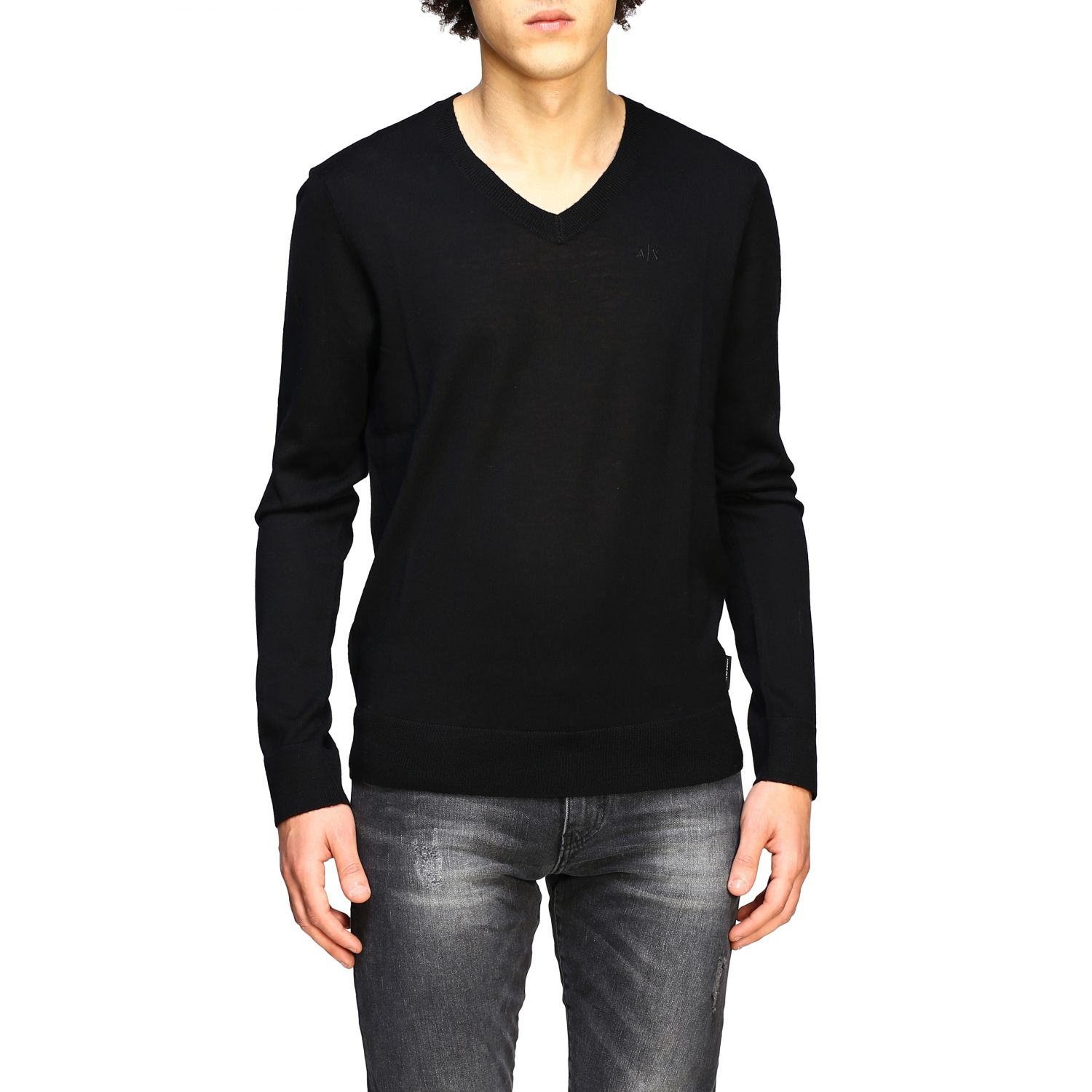 Pull homme Armani Exchange noir 1