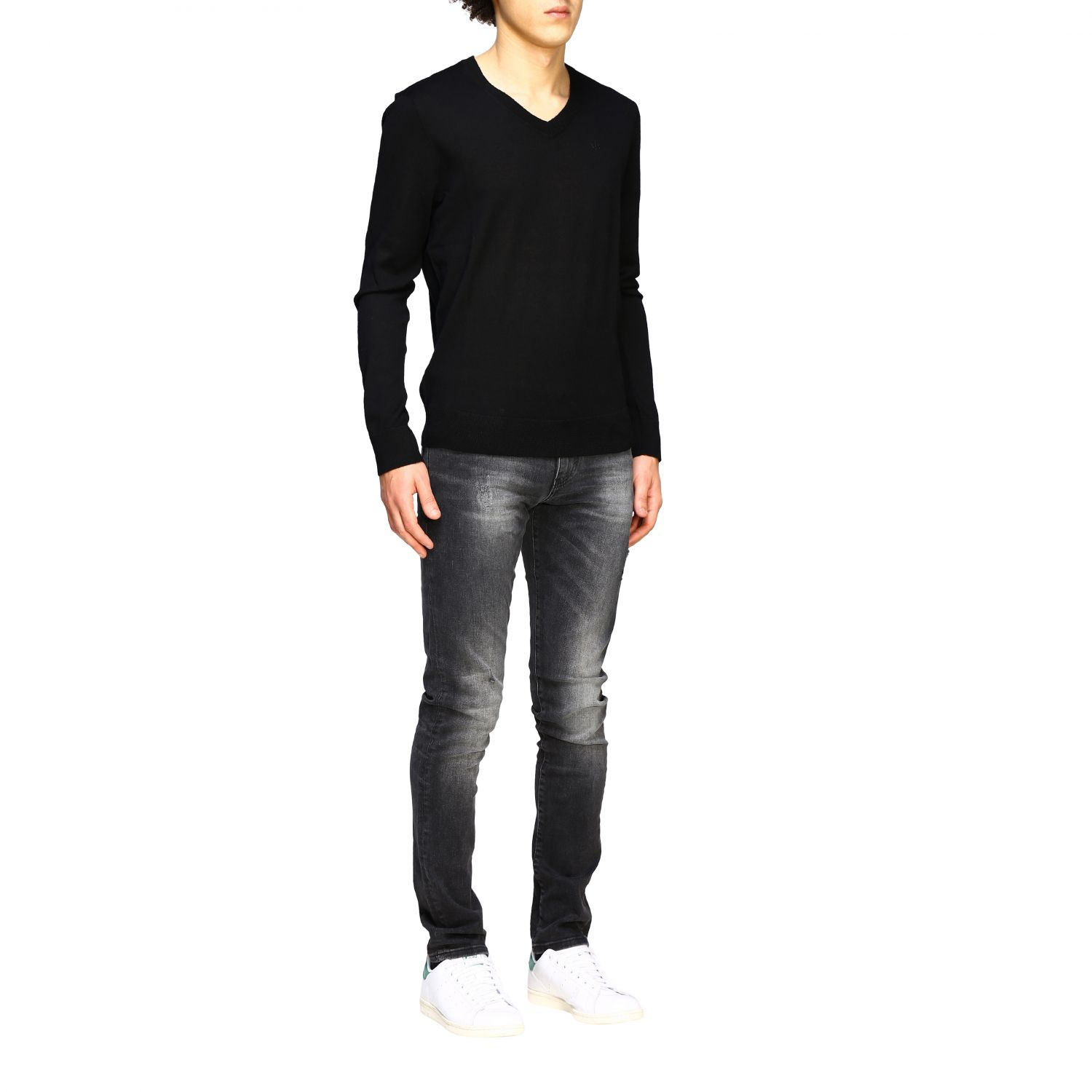 Pull homme Armani Exchange noir 2