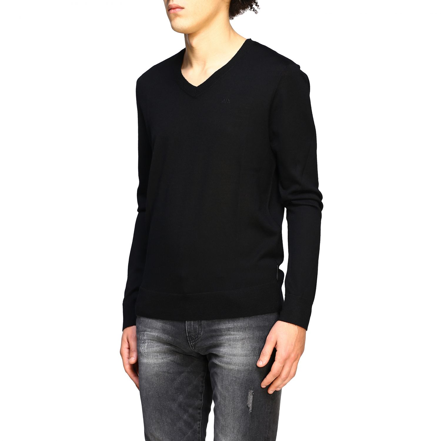 Pull homme Armani Exchange noir 4