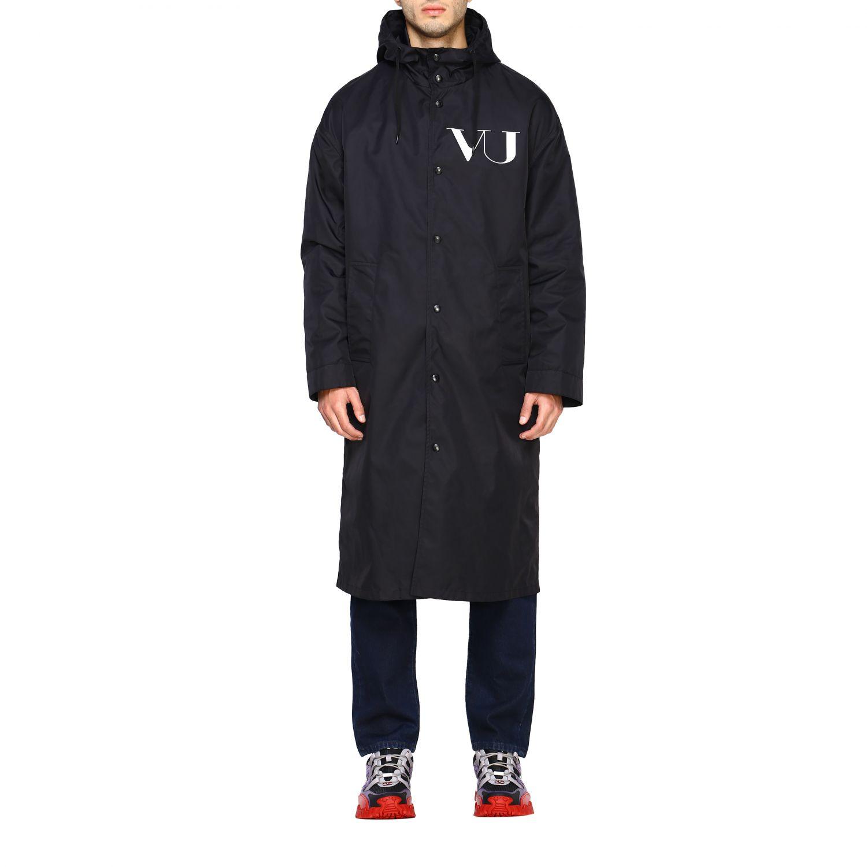 Abrigo hombre Valentino negro 1