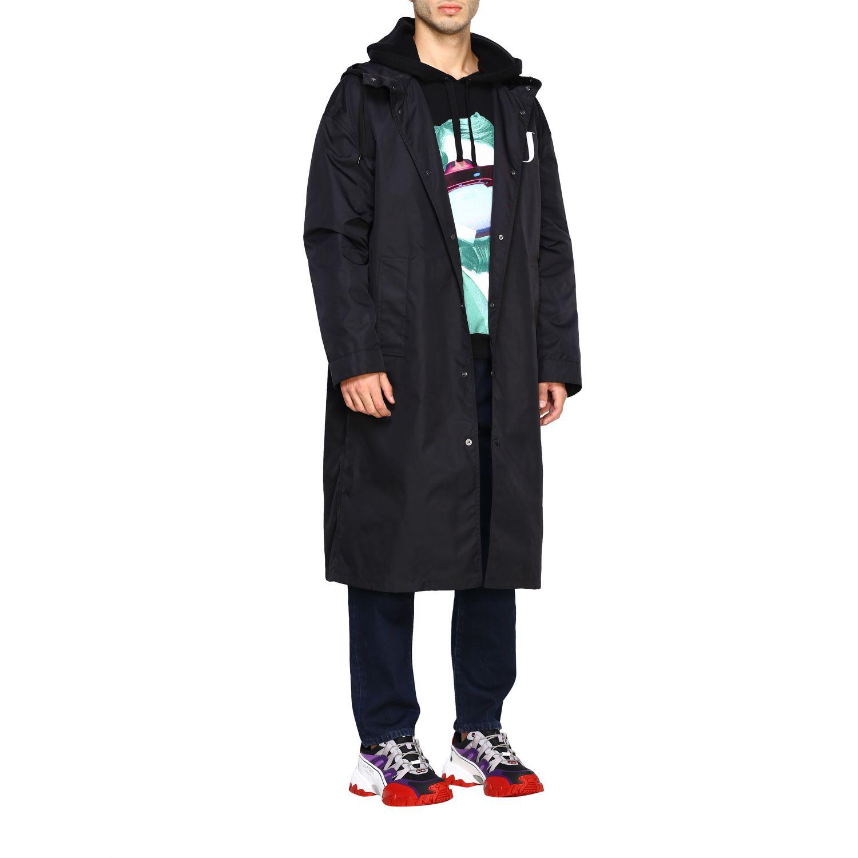 Abrigo hombre Valentino negro 2