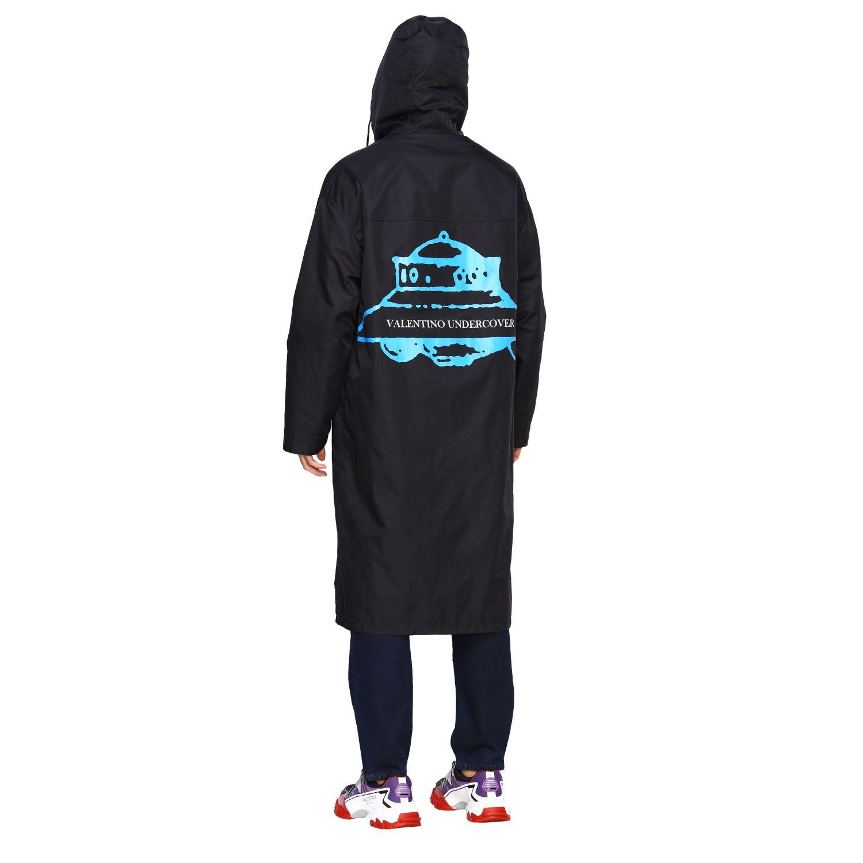 Abrigo hombre Valentino negro 3