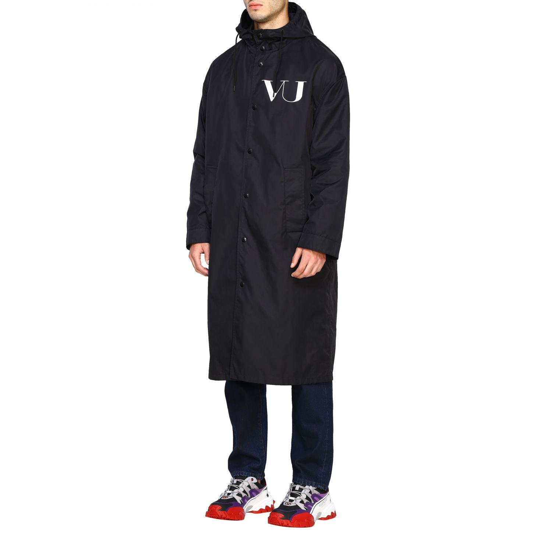 Abrigo hombre Valentino negro 4