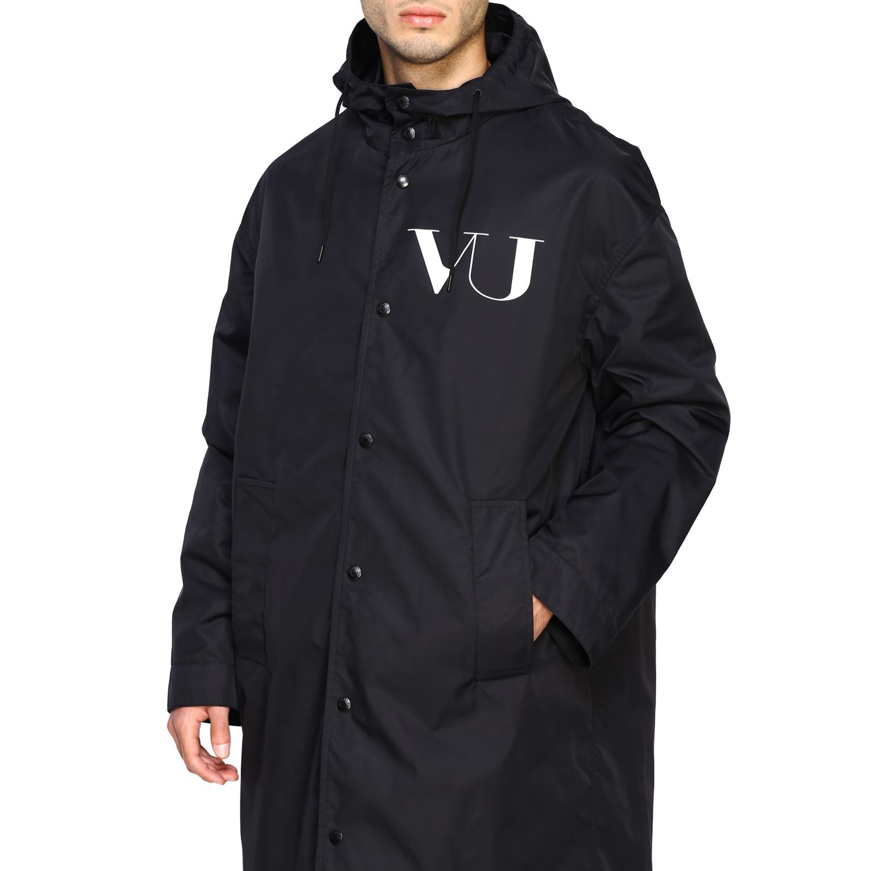 Abrigo hombre Valentino negro 5