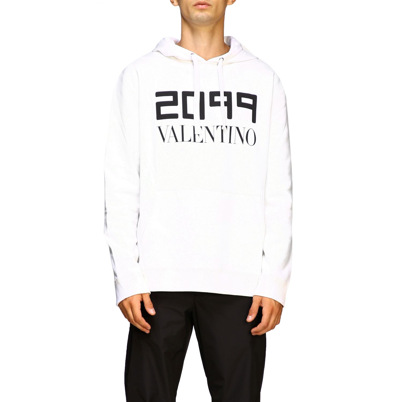 Valentino 2099印花连帽卫衣 白色 1