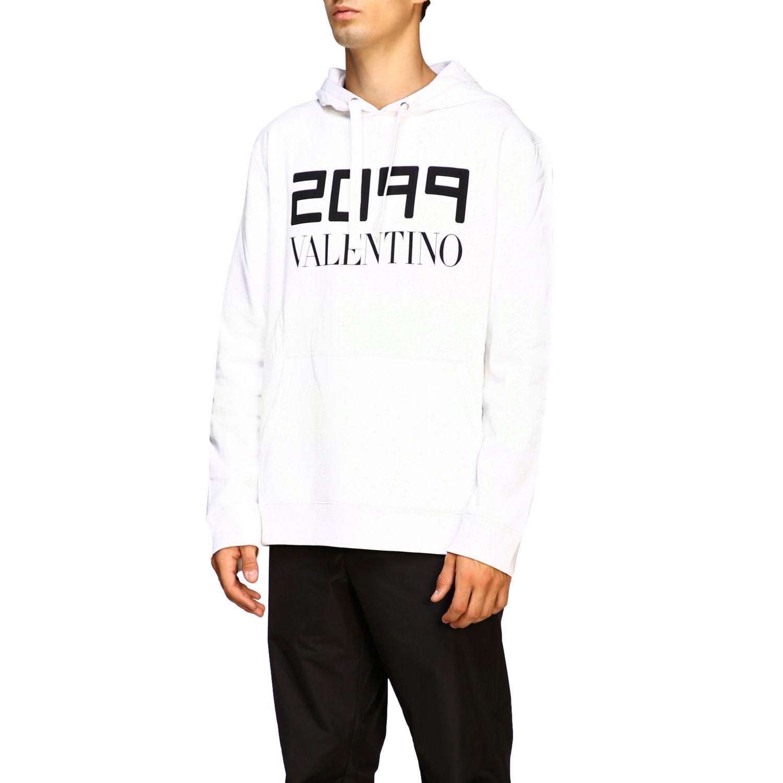 Valentino 2099印花连帽卫衣 白色 4
