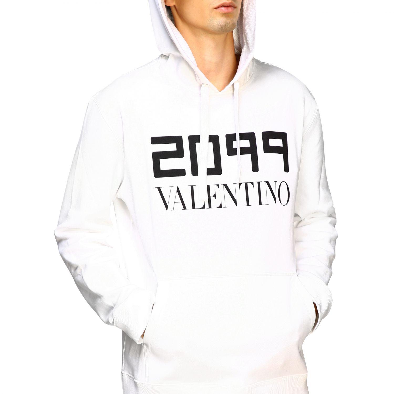 Valentino 2099印花连帽卫衣 白色 5