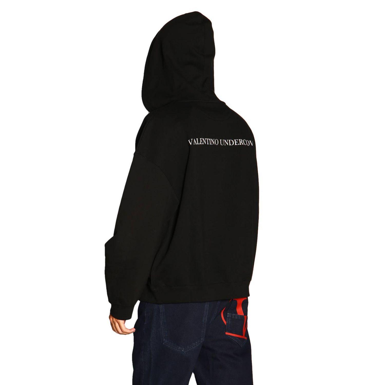 Valentino Kapuzensweatshirt mit V-Face-UFO-Logo schwarz 3