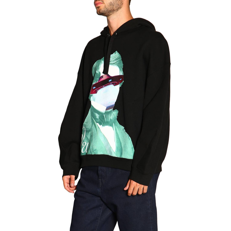 Valentino Kapuzensweatshirt mit V-Face-UFO-Logo schwarz 4