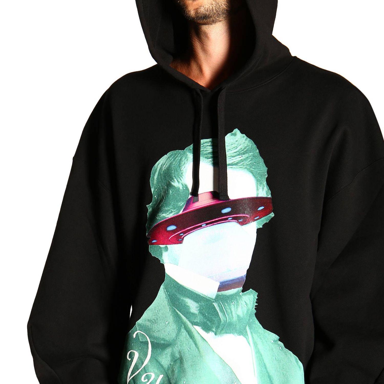 Valentino Kapuzensweatshirt mit V-Face-UFO-Logo schwarz 5