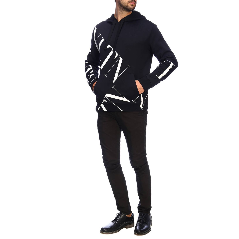Valentino sweatshirt with hood and VLTN logo black 2