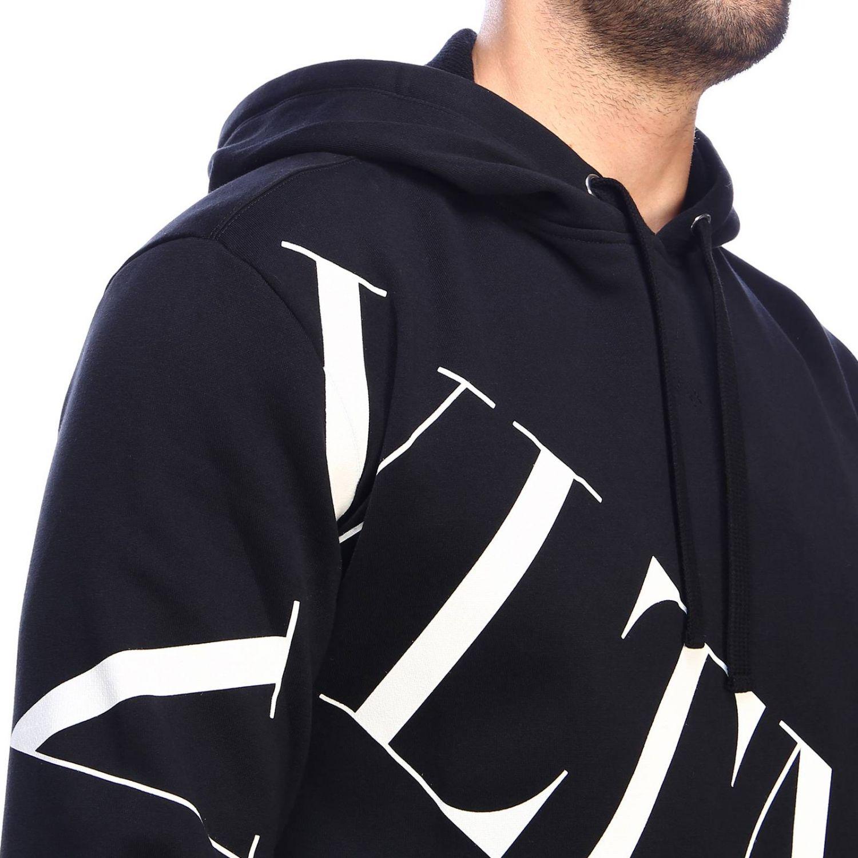 Valentino sweatshirt with hood and VLTN logo black 4