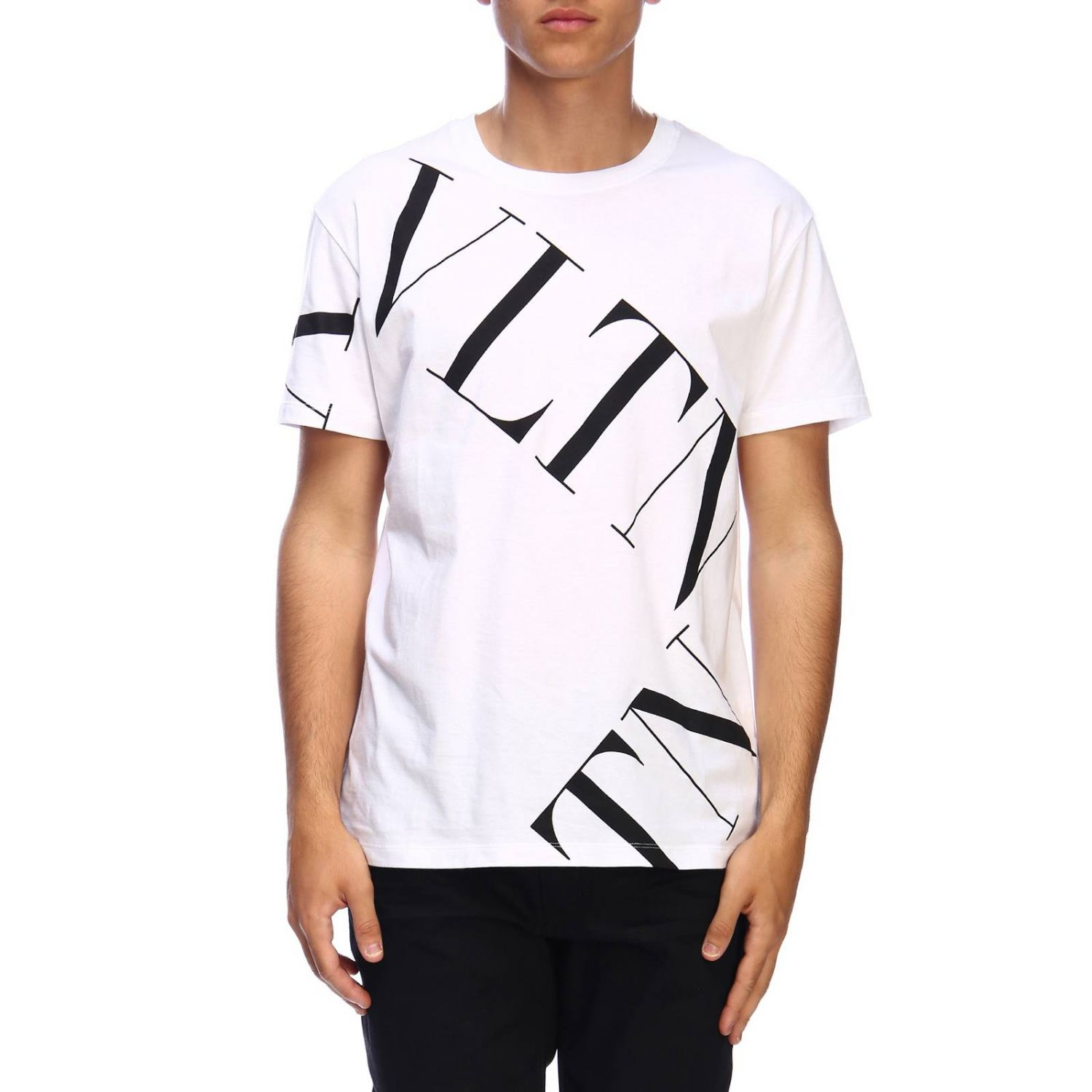 T-shirt Valentino: Valentino short-sleeved T-shirt with VLTN print white 1