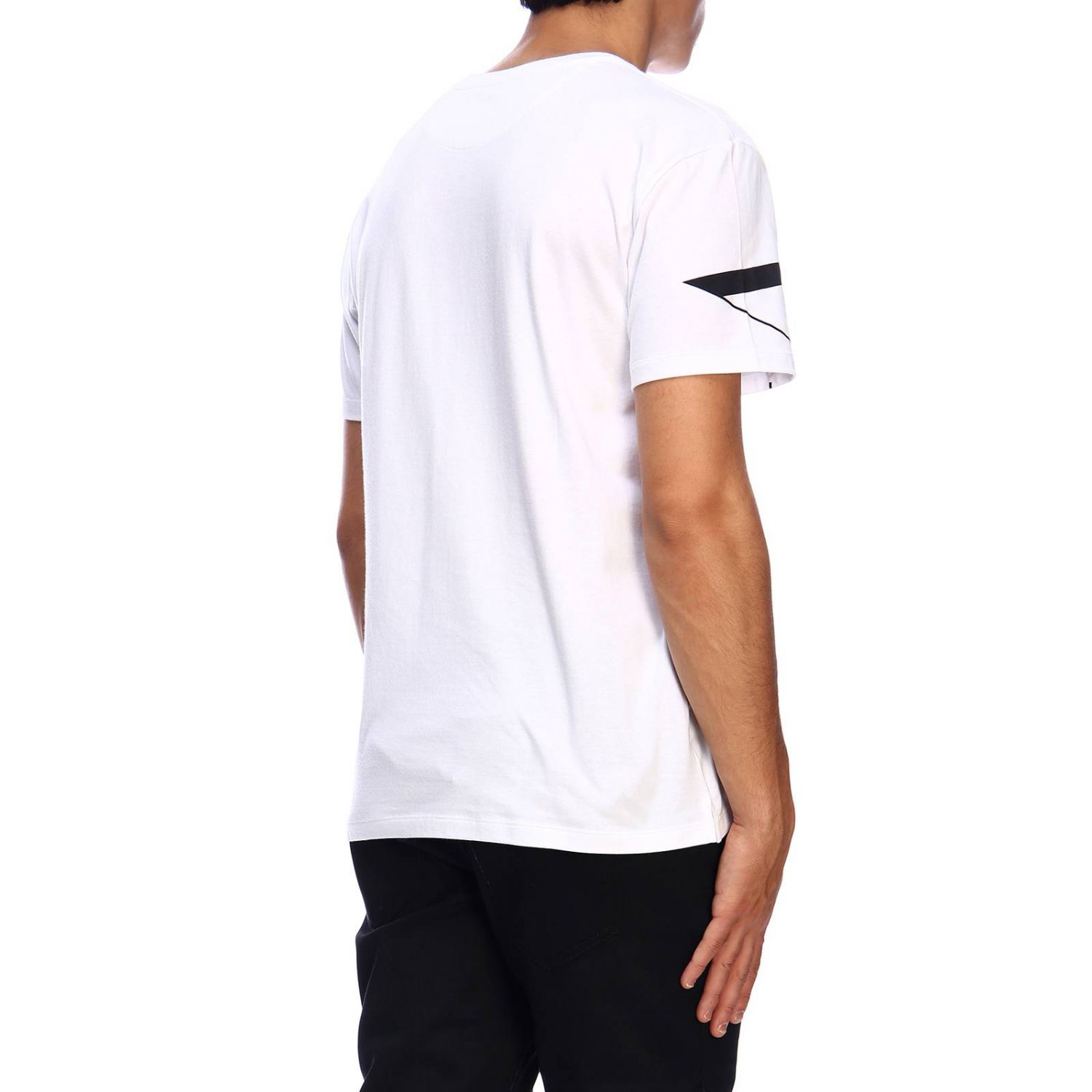 T-shirt Valentino: Valentino short-sleeved T-shirt with VLTN print white 3