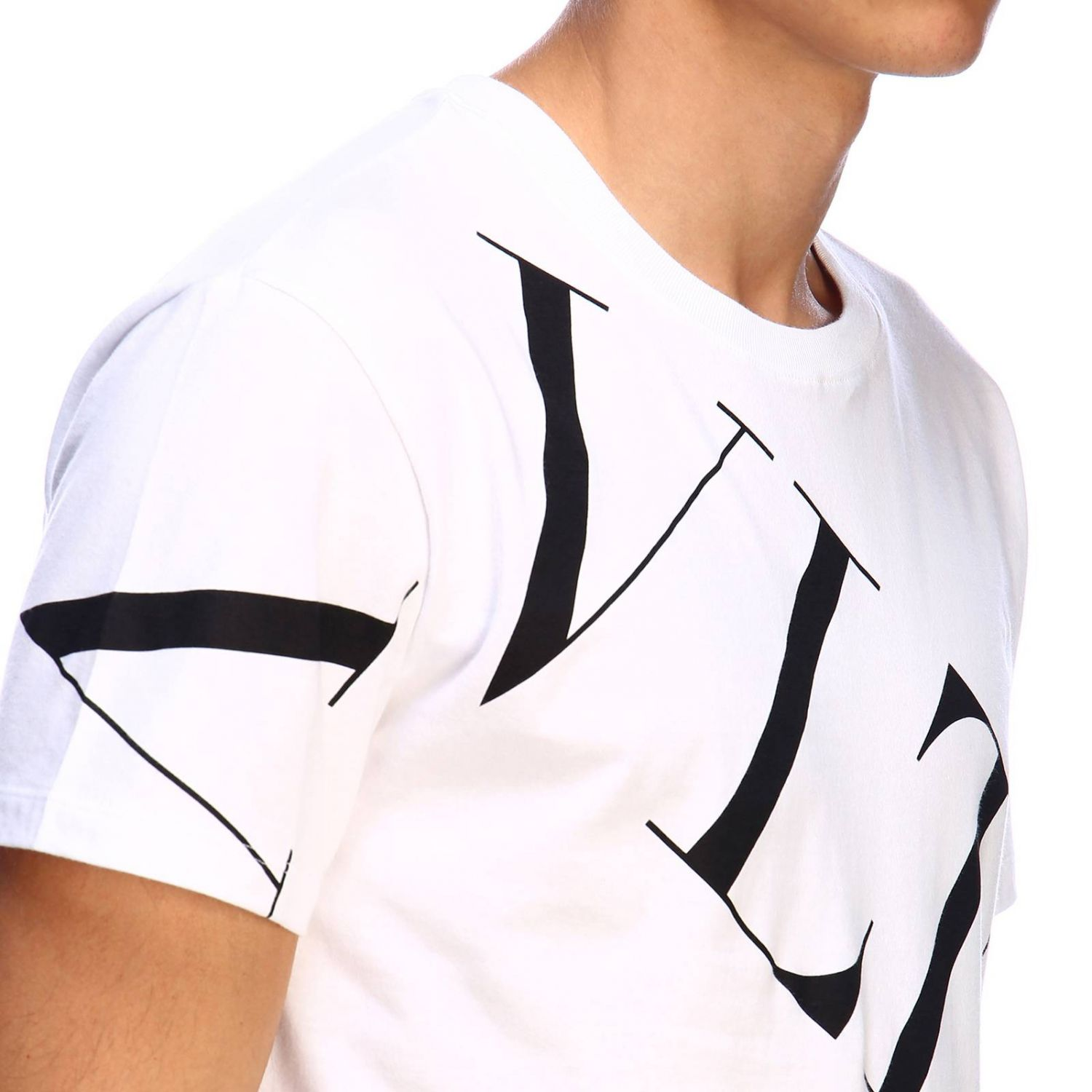 T-shirt Valentino: Valentino short-sleeved T-shirt with VLTN print white 4