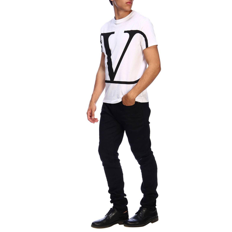 T-shirt Valentino a maniche corte con stampa VLogo bianco 2