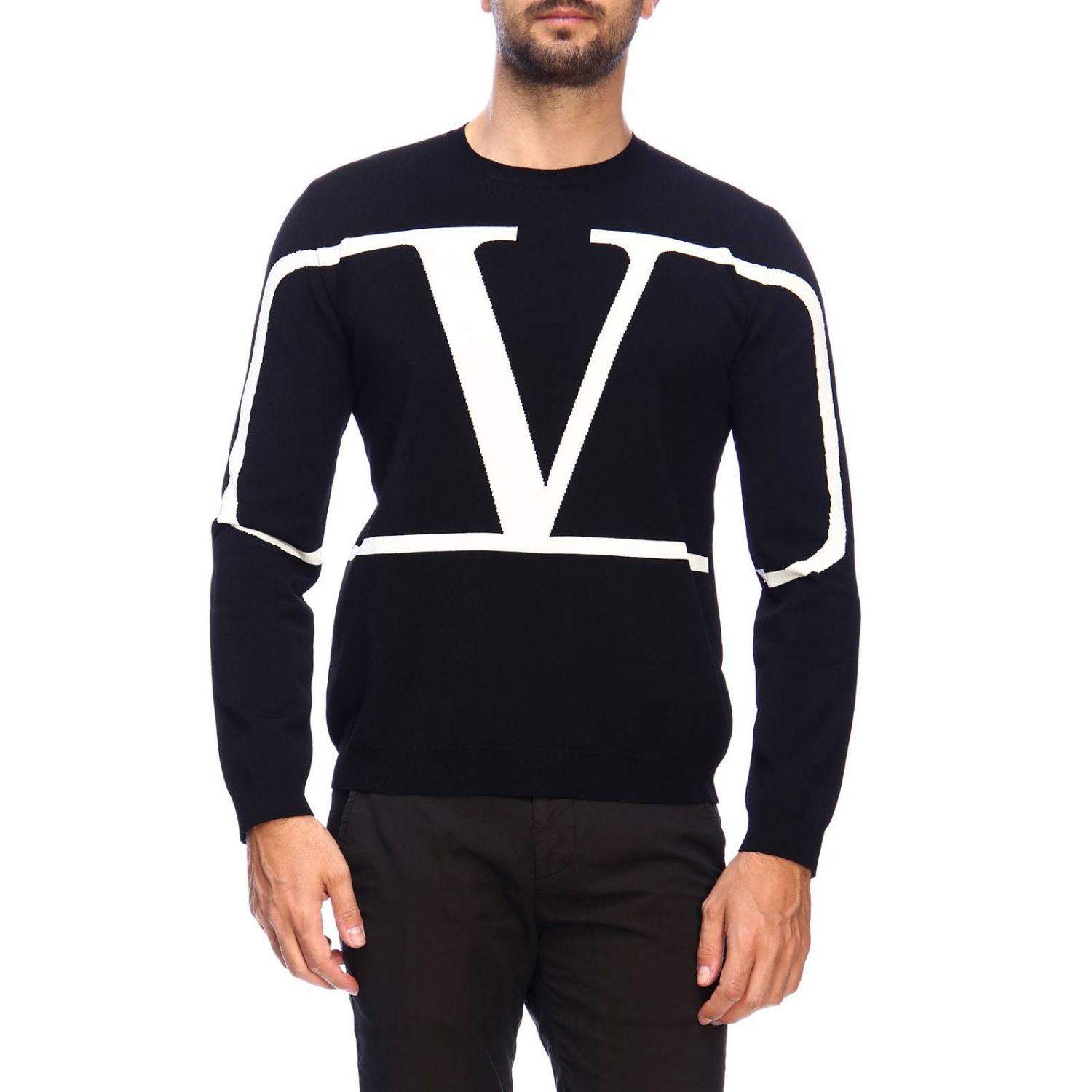 Jumper men Valentino black 1