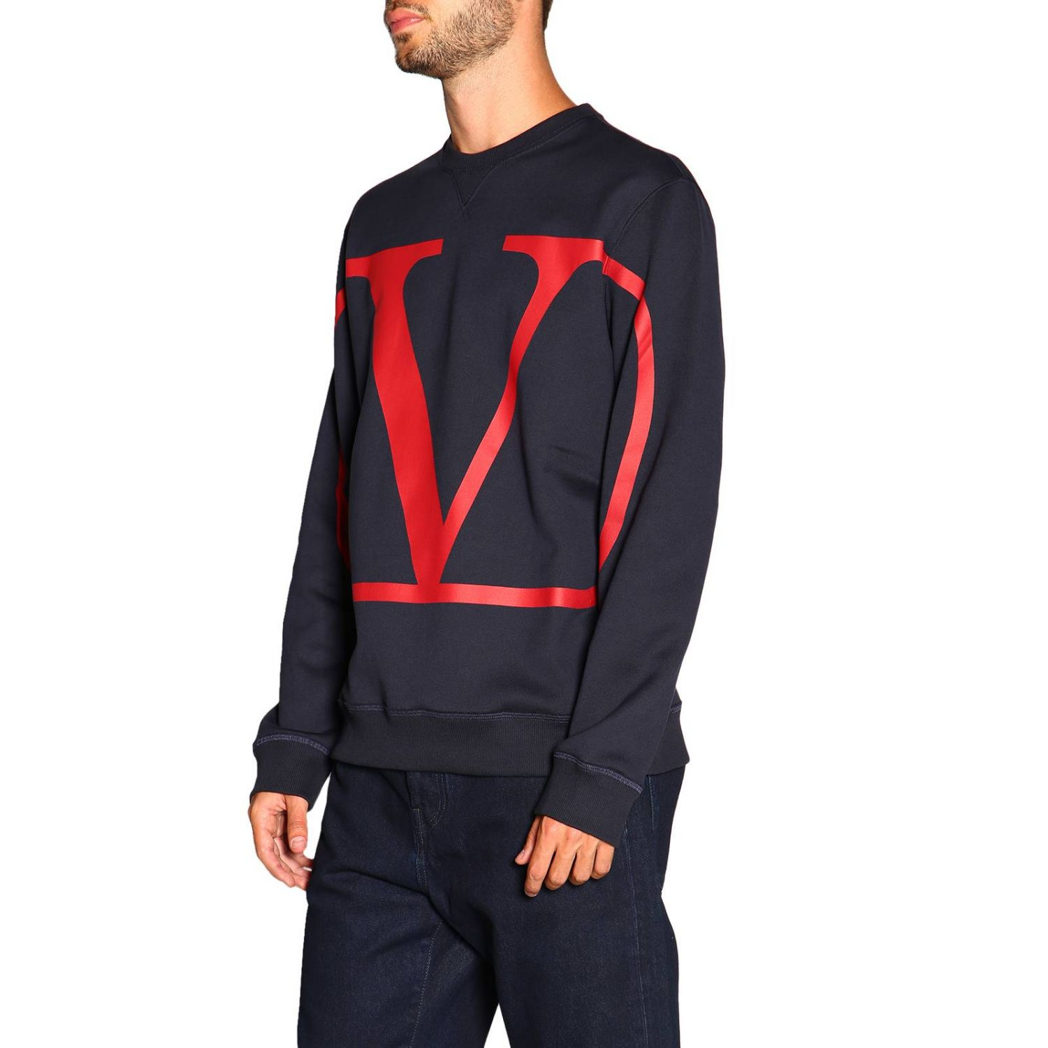 Sweater men Valentino blue 4