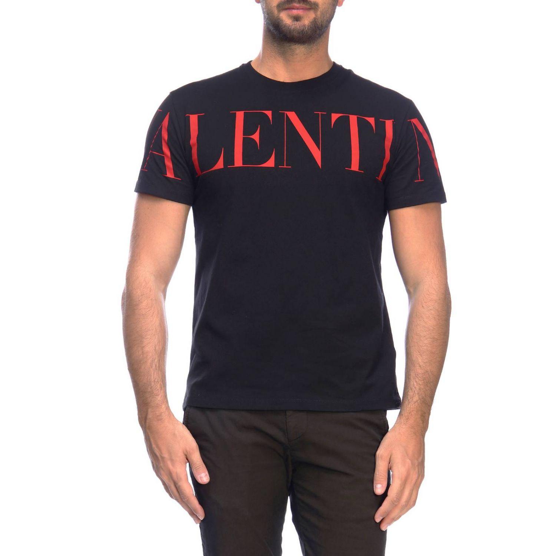 Camiseta Valentino de manga corta con logo estampado negro 1