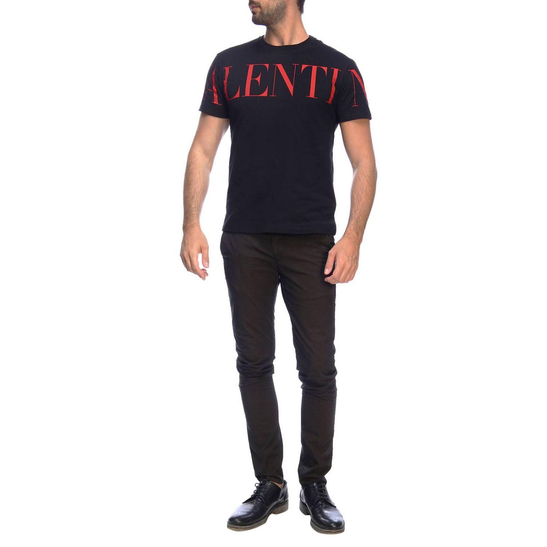Camiseta Valentino de manga corta con logo estampado negro 2