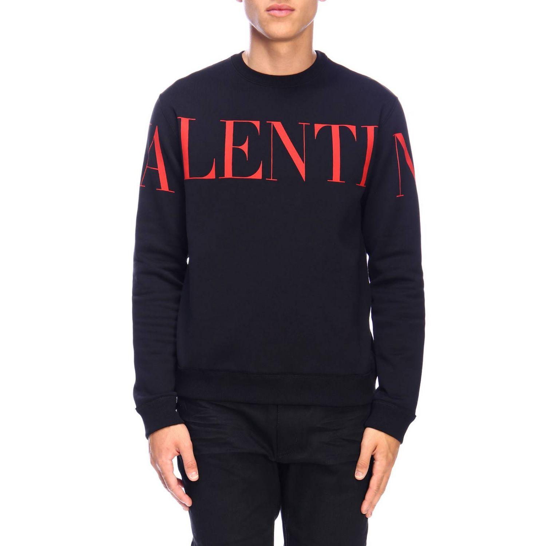 Sudadera Valentino: Sudadera con cuello redondo y logo de Valentino negro 1