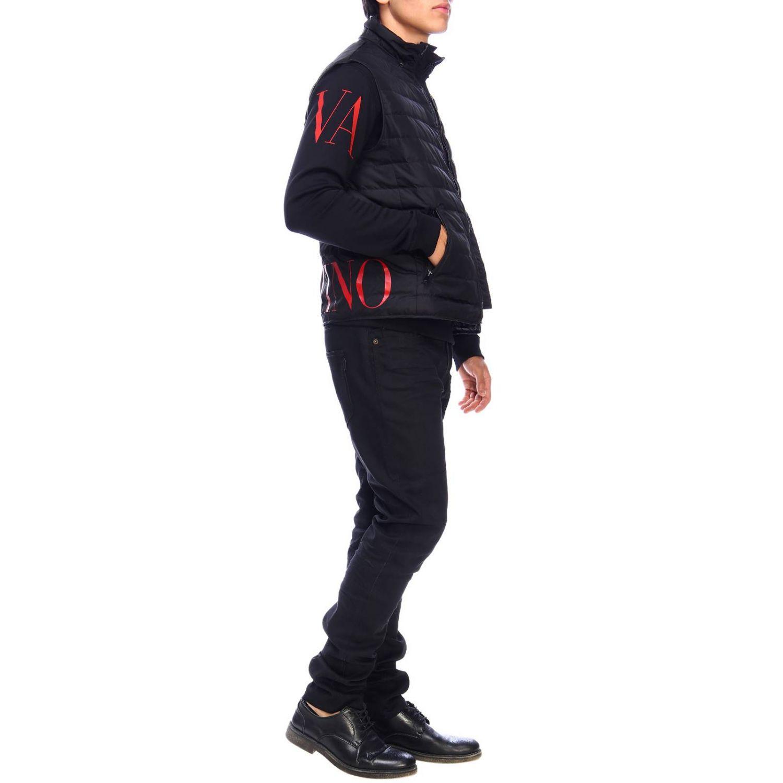 Sudadera Valentino: Sudadera con cuello redondo y logo de Valentino negro 2