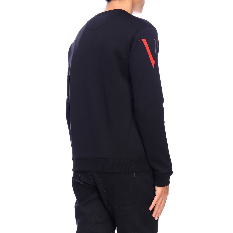 Sudadera Valentino: Sudadera con cuello redondo y logo de Valentino negro 3