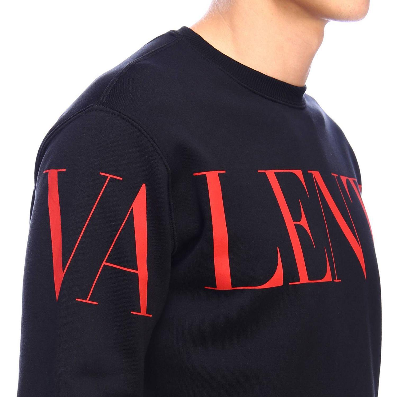 Sudadera Valentino: Sudadera con cuello redondo y logo de Valentino negro 4
