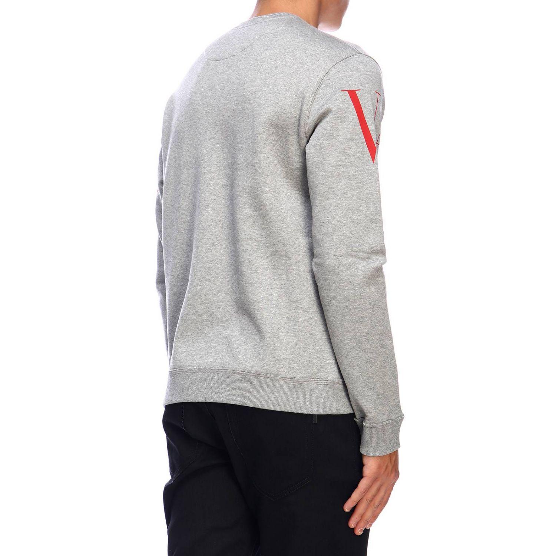 Valentino Sweatshirt mit Rundhalsausschnitt und Logo grau 3