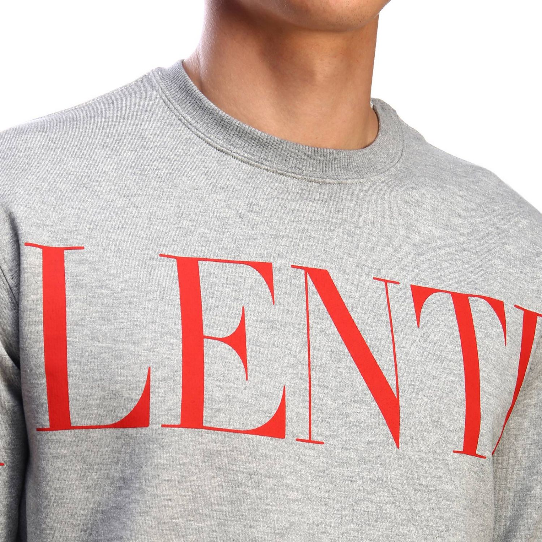 Valentino Sweatshirt mit Rundhalsausschnitt und Logo grau 4