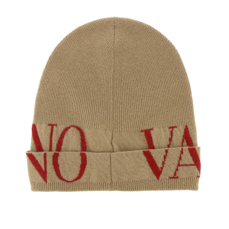 帽子 Valentino Garavani: Valentino Garavani羊毛帽子,提花logo印花 驼色 2