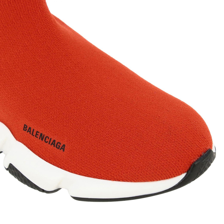 鞋履 Balenciaga: Balenciaga Running Speed 科技面料logo印花运动鞋 红色 4