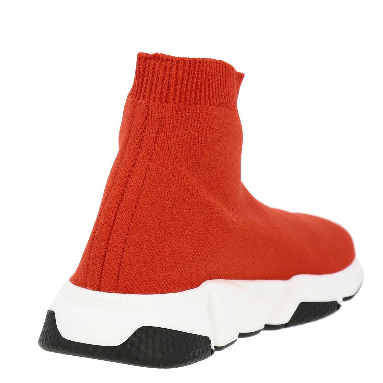 鞋履 Balenciaga: Balenciaga Running Speed 科技面料logo印花运动鞋 红色 5