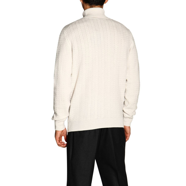 Ermenegildo Zegna Basic Rollkragenpullover mit langen Ärmeln aus Kaschmir weiß 2