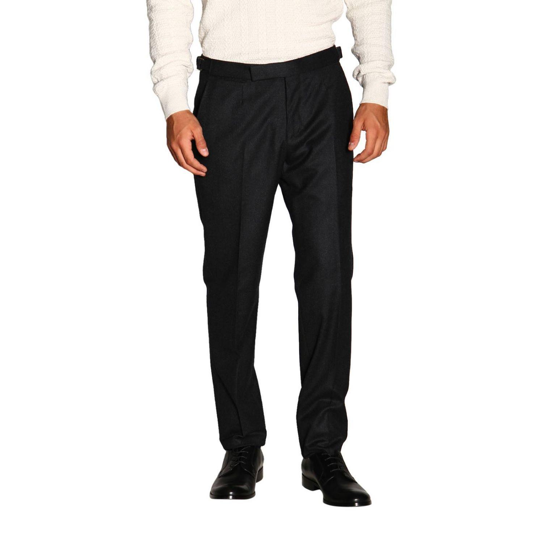 Trousers Ermenegildo Zegna: Trousers men Ermenegildo Zegna charcoal 1