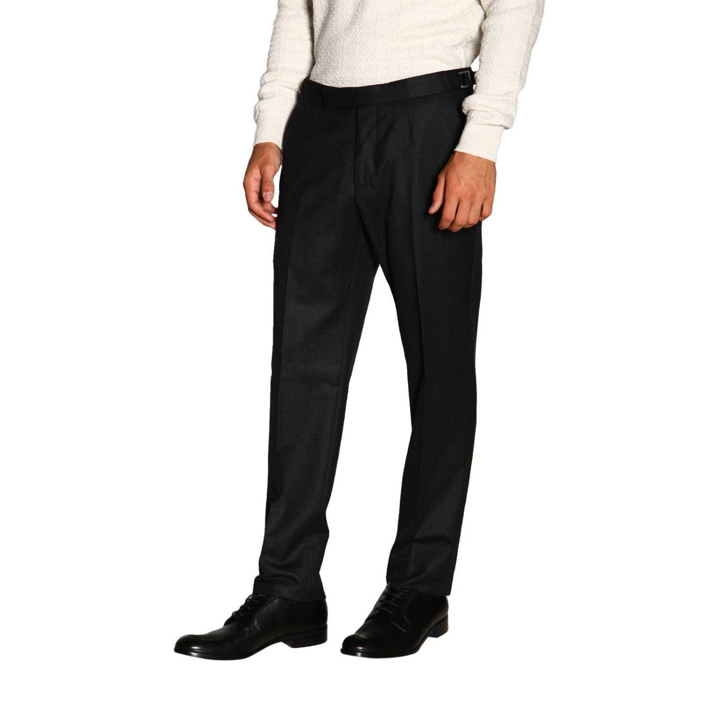 Trousers Ermenegildo Zegna: Trousers men Ermenegildo Zegna charcoal 4