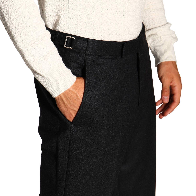 Trousers Ermenegildo Zegna: Trousers men Ermenegildo Zegna charcoal 5
