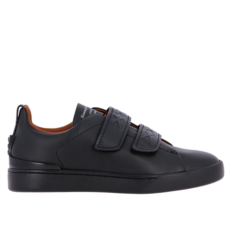 Trainers Ermenegildo Zegna: Shoes men Ermenegildo Zegna black 1
