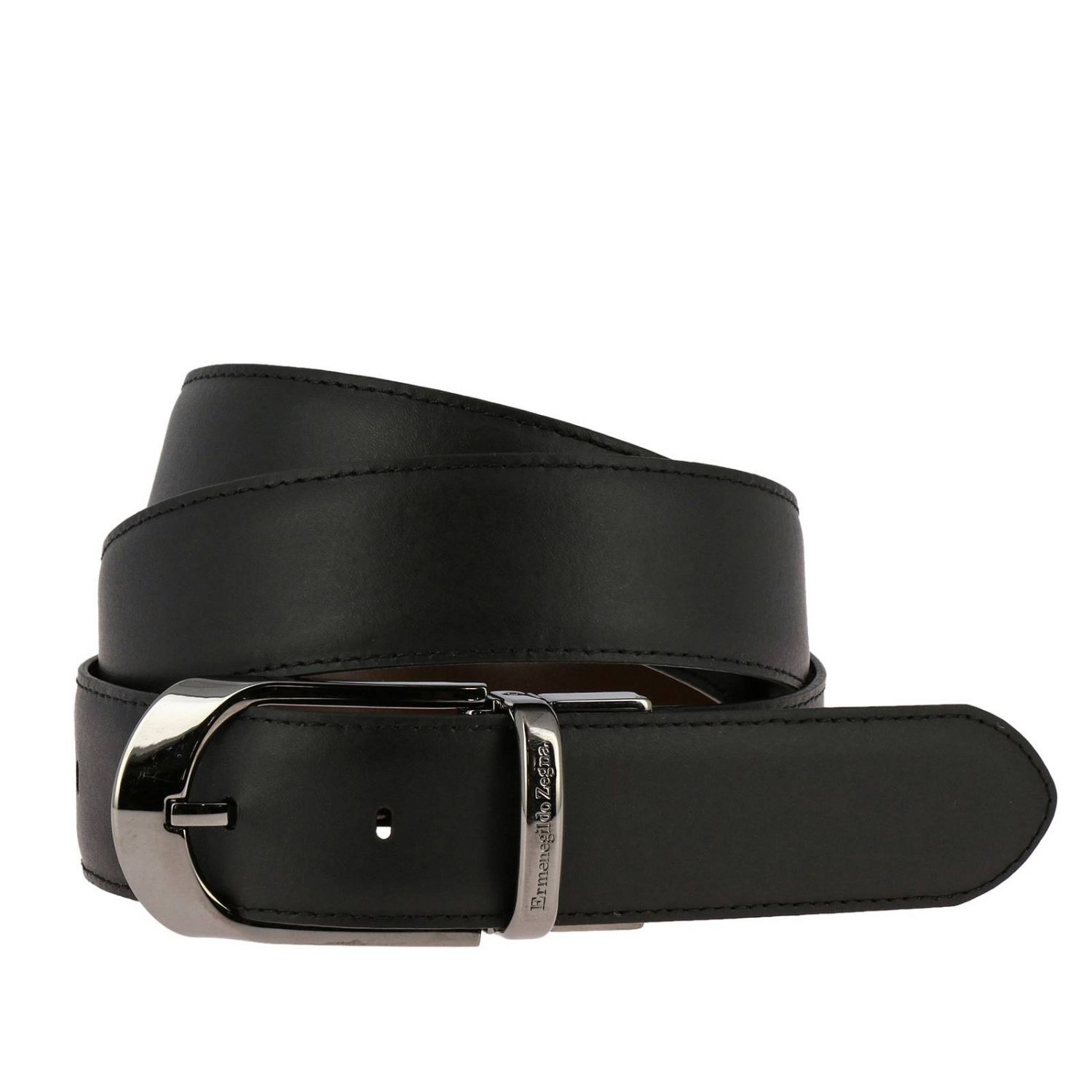 Belt Ermenegildo Zegna: Belt men Ermenegildo Zegna black 2