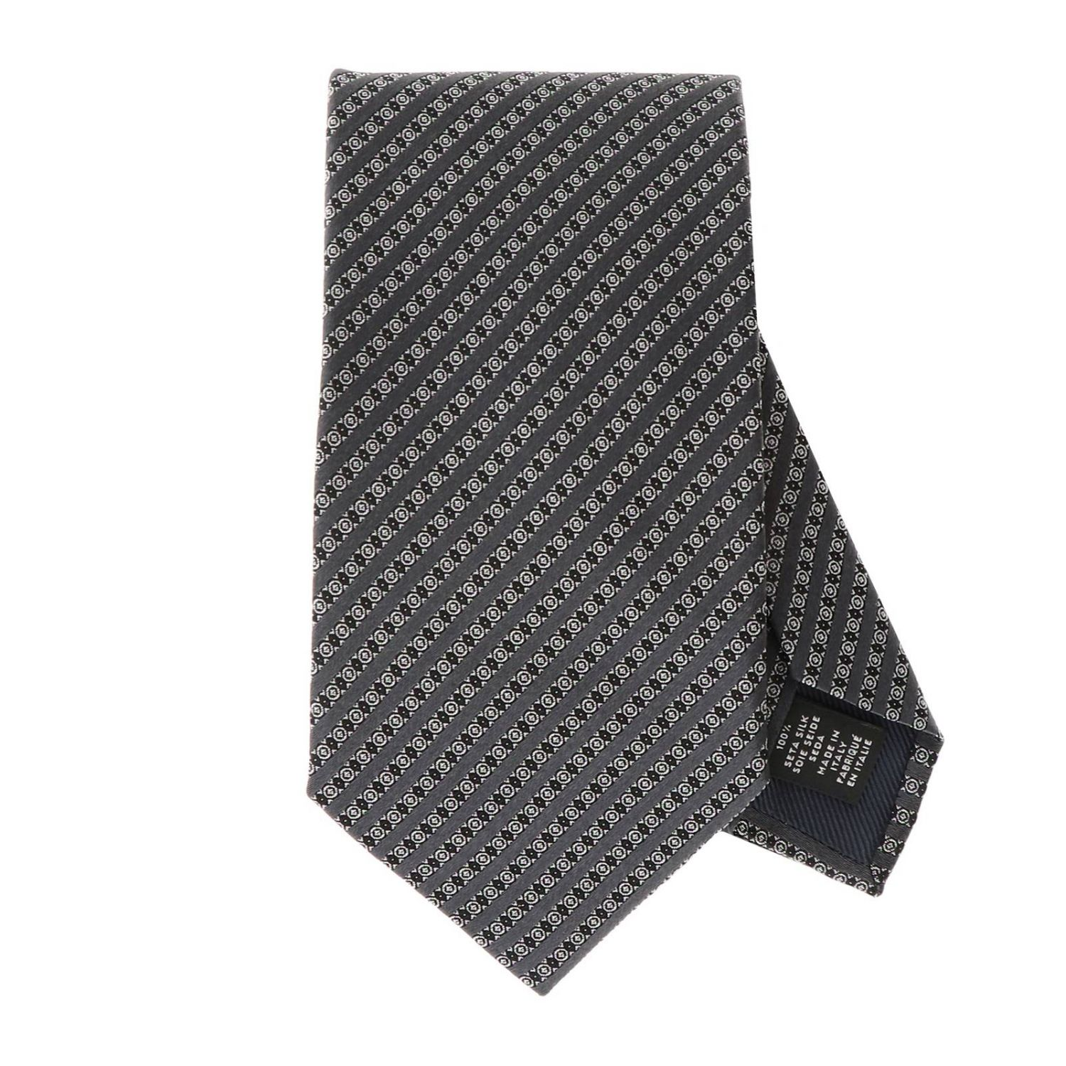 Tie men Ermenegildo Zegna grey 1