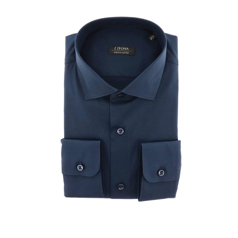 Рубашка Z Zegna: Рубашка Мужское Z Zegna синий 1