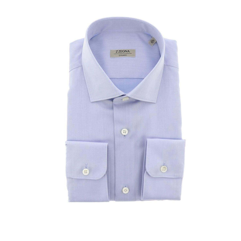 Shirt men Z Zegna gnawed blue 1
