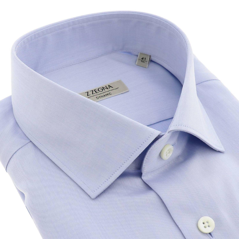 Shirt men Z Zegna gnawed blue 2