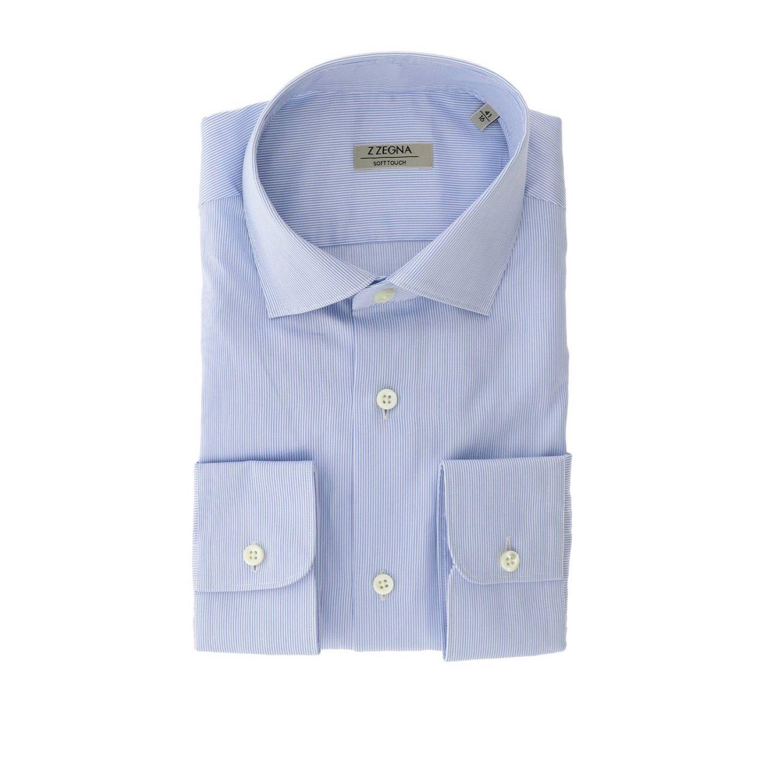 Рубашка Z Zegna: Рубашка Мужское Z Zegna голубой 1