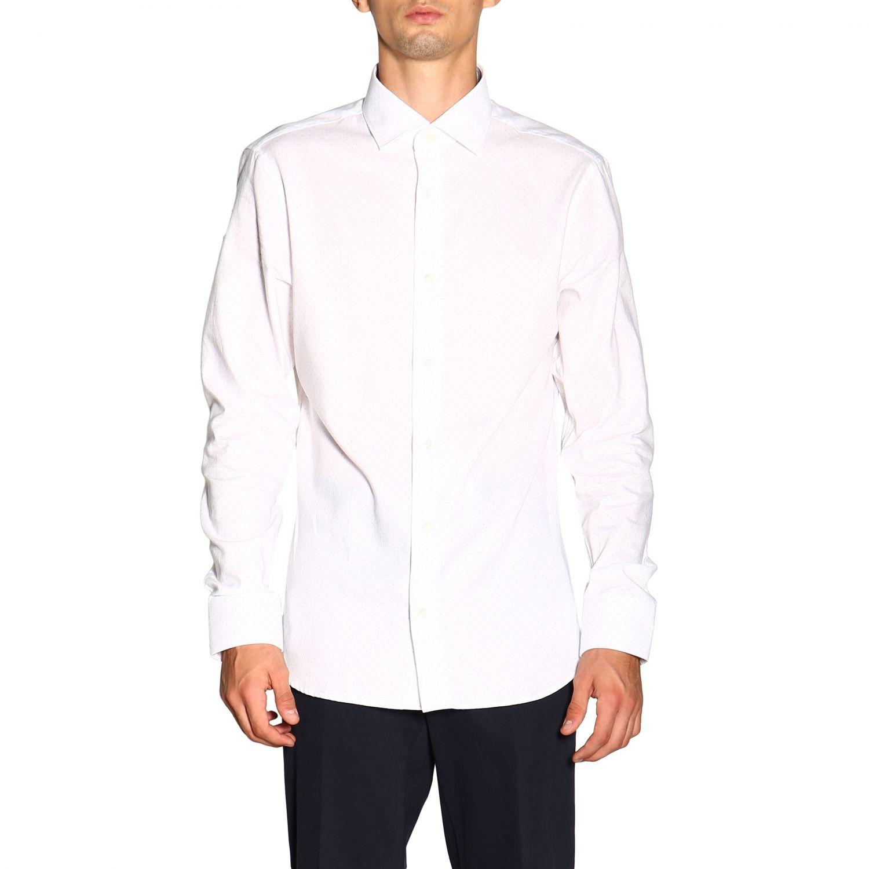 Camisa Z Zegna: Camisa Alessio Z Zegna con cuello francés de micro lunares blanco 1