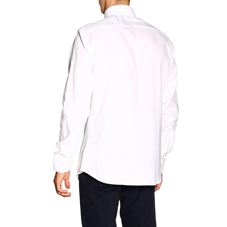 Camisa Z Zegna: Camisa Alessio Z Zegna con cuello francés de micro lunares blanco 3